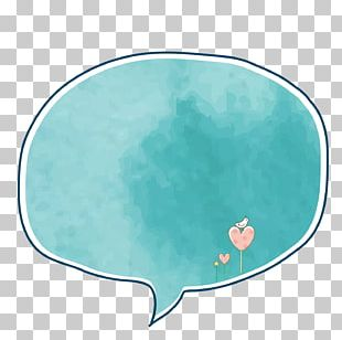 Watercolor Hand-painted Border Dialog Box PNG