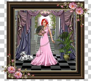 Floral Design Window Flower Bouquet Gown Frames PNG