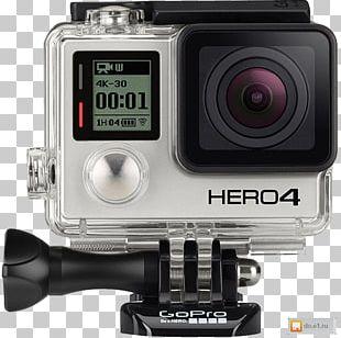 GoPro Hero 4 Action Camera Camcorder PNG