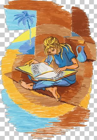 Reading Drawing Painting Book PNG