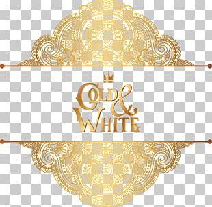 Wedding Invitation Ornament Gold Pattern PNG