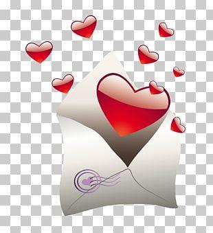 Valentine's Day Letter Wedding Invitation PNG