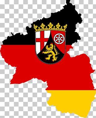 Flag Of Rhineland-Palatinate States Of Germany Flag Of Rhineland-Palatinate Map PNG