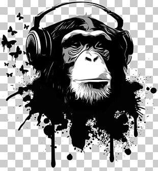 Chimpanzee Artist Printmaking Graphic Arts PNG