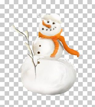 Snowman Winter Scarf PNG