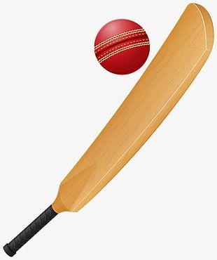Cricket Bat And Cricket PNG