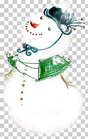 Artist Trading Cards Painting Snowman PNG