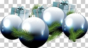 Christmas Ornament Gift Blue Ball PNG