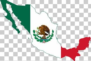 Flag Of Mexico Map PNG