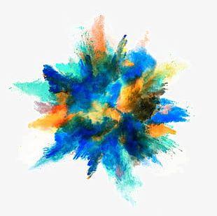 Beautiful Color Splash Background PNG