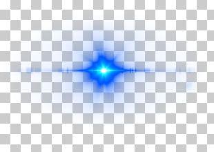 Deep Blue Lens Flare PNG