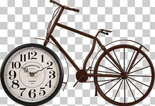 Bicycle Wheels Table Clock Cycling PNG