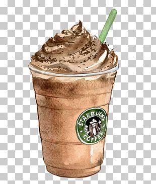 Coffee Tea Latte Starbucks Drawing PNG