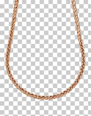 Necklace Earring Chain Gold Plating PNG