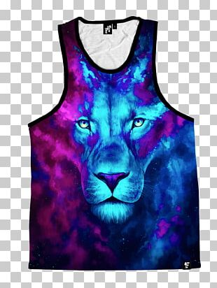 Lion Art Cat Watercolor Painting Clothing PNG