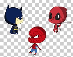 Deadpool Spider-Man Batman Superman Drawing PNG