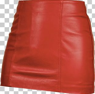 Miniskirt Leather Red Clothing PNG