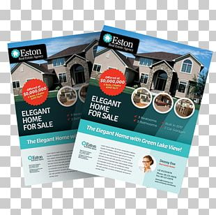 Brochure Real Estate Flyer Template House PNG