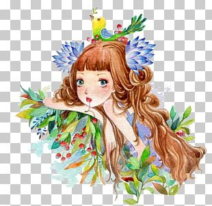 Girl Cartoon Creative Work Illustration PNG