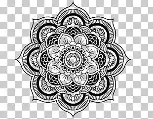 Mandala Coloring Book PNG