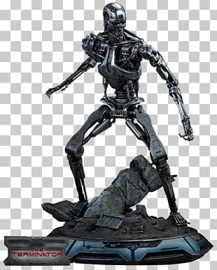 The Terminator Sideshow Collectibles Statue Figurine PNG