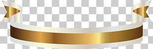 Gold Ribbon Banner PNG