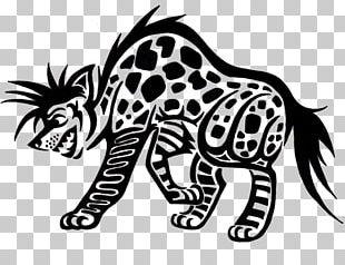 Striped Hyena Tattoo Art Spotted Hyena PNG
