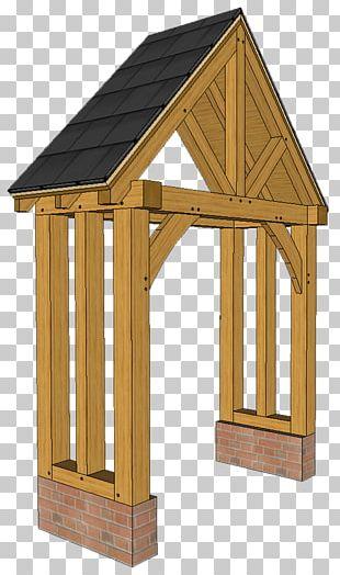 Framing Porch Roof Post Oak Shed PNG