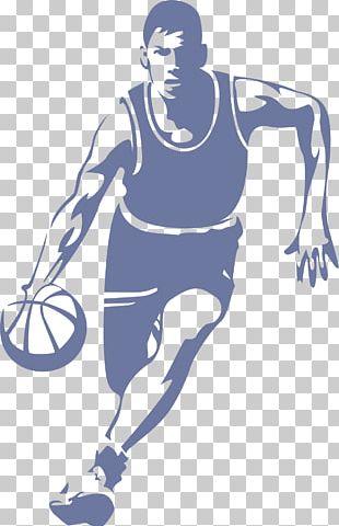 Basketball Player Dribbling Slam Dunk PNG