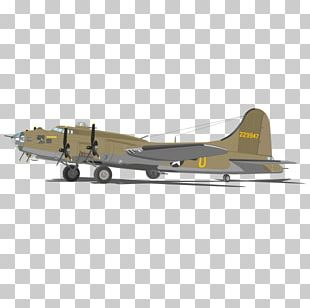 Boeing B-17 Flying Fortress Airplane Heavy Bomber B-17G PNG