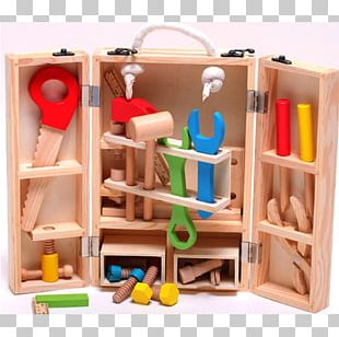 Wooden Box Tool Child Toy PNG