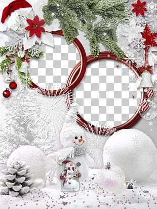 Christmas Decoration Frame Hat Christmas Tree PNG