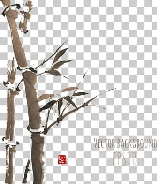 Japanese Painting Ink Wash Painting PNG