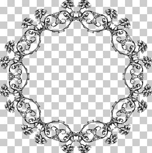 Line Art Frames Body Jewellery Pattern PNG