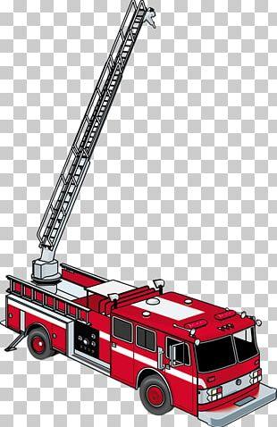 Ladder Fire Engine Firefighter Fire Department PNG