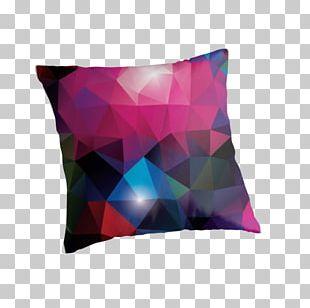 Cushion Throw Pillows Magenta Purple Violet PNG