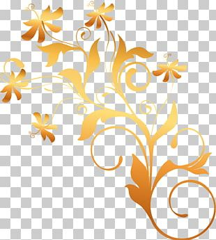 Flower Sticker Gold Chemical Element PNG