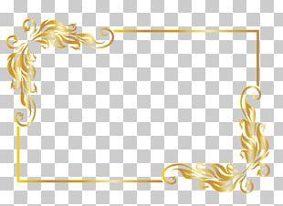 Frame Golden Frame Text PNG
