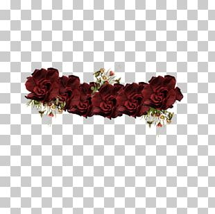Garden Roses Floral Design Wreath Crown PNG