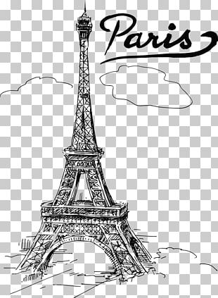 Eiffel Tower Drawing T-shirt PNG