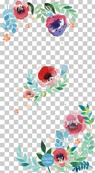 Flower Floral Design Watercolor Painting Paper Art PNG