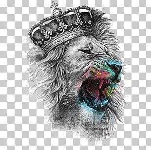 Lion's Head T-shirt Crown Iron-on PNG