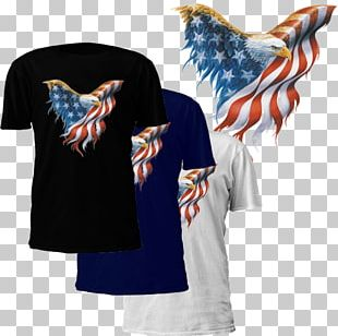 Flag Of The United States T-shirt Bald Eagle Independence Day PNG
