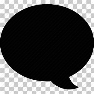 Black Circle White Font PNG