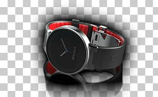 Alcatel OneTouch Smart Watch SM02 Black/Red PNG