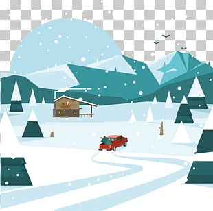 Snow Winter Landscape PNG