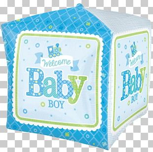 Balloon Infant Boy Baby Shower Party PNG