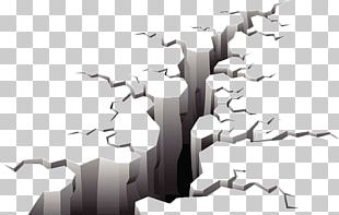 Crack In The Ground Earthquake Illustration PNG
