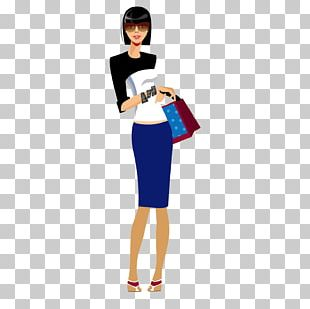 Shopping Fashion Girl Illustration PNG