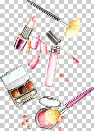 Lotion Cosmetics Lipstick Brush PNG
